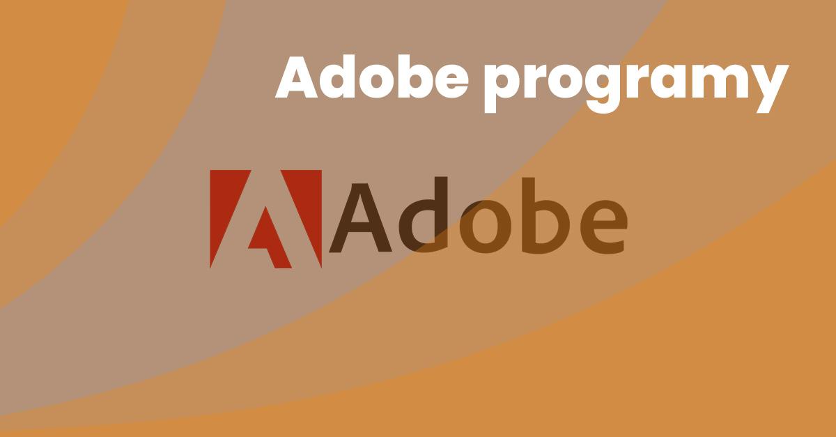 3 Adobe Programy